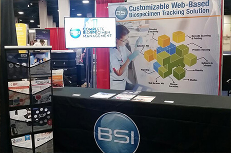 Photo of the IMS Bio IT Exhibitor Booth