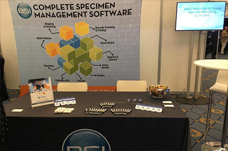 Photo of the IMS ISBER Exhibitor Booth