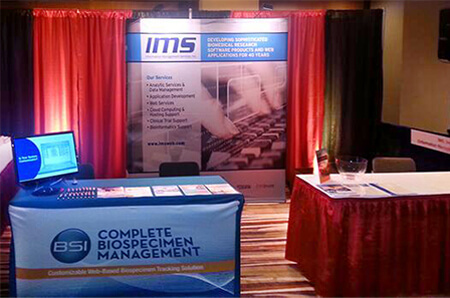 Photo of the IMS NAACR Exhibitor Booth
